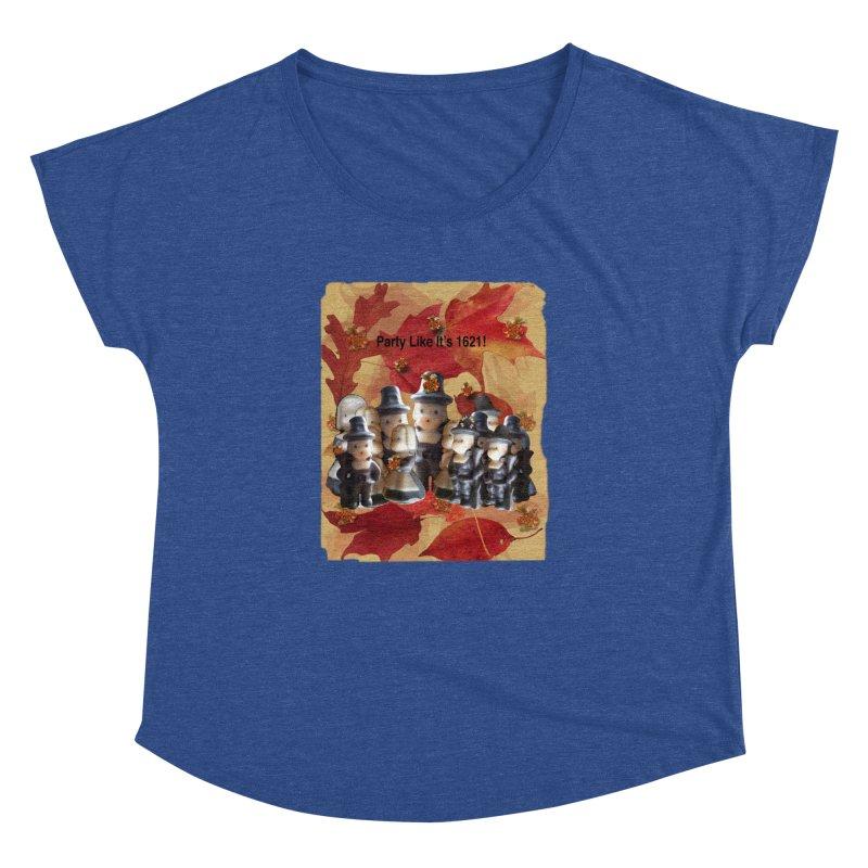Party Like It's 1621! Women's Dolman Scoop Neck by Maryheartworks's Artist Shop