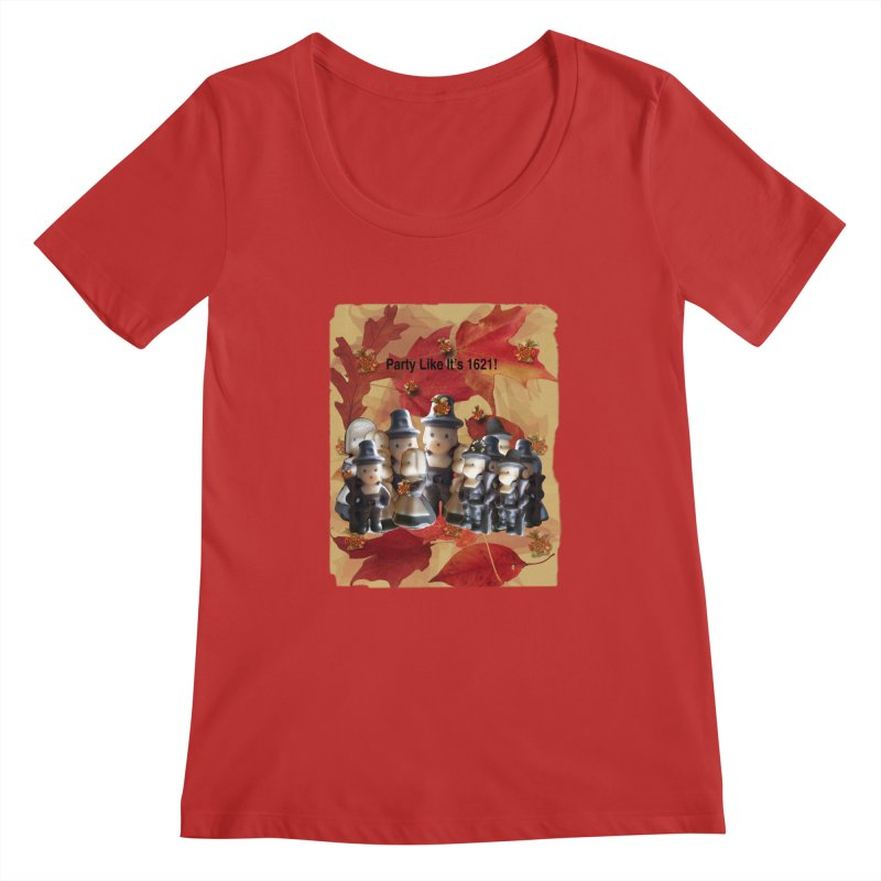 Party Like It's 1621! Women's Regular Scoop Neck by Maryheartworks's Artist Shop