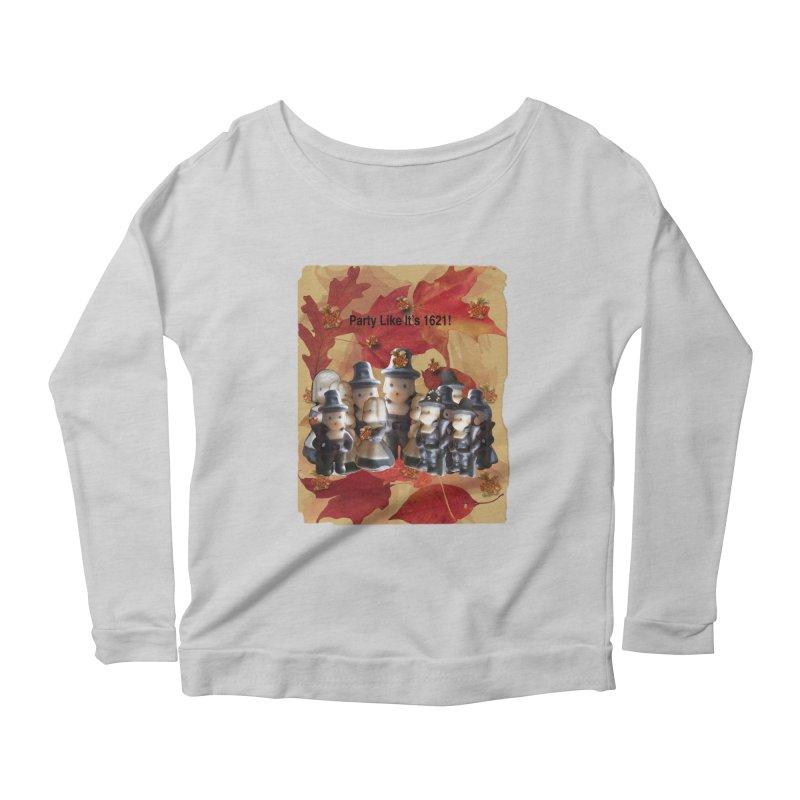 Party Like It's 1621! Women's Scoop Neck Longsleeve T-Shirt by Maryheartworks's Artist Shop