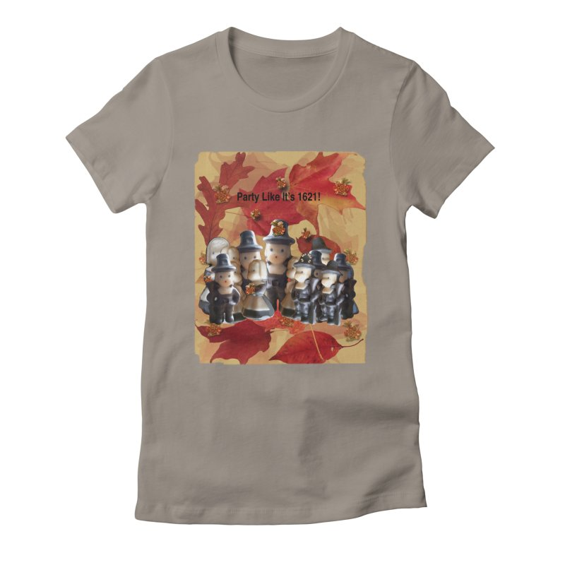 Party Like It's 1621! Women's Fitted T-Shirt by Maryheartworks's Artist Shop