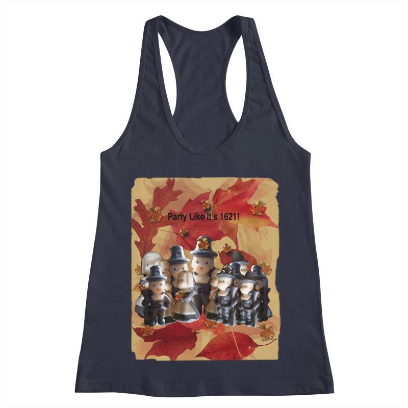Party Like It's 1621! Women's Racerback Tank by Maryheartworks's Artist Shop