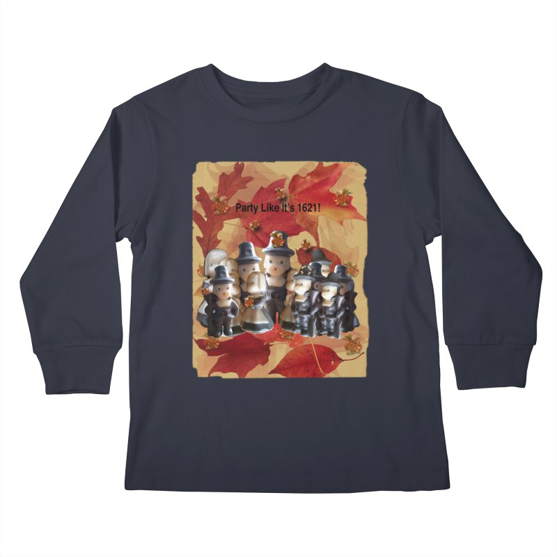Party Like It's 1621! Kids Longsleeve T-Shirt by Maryheartworks's Artist Shop