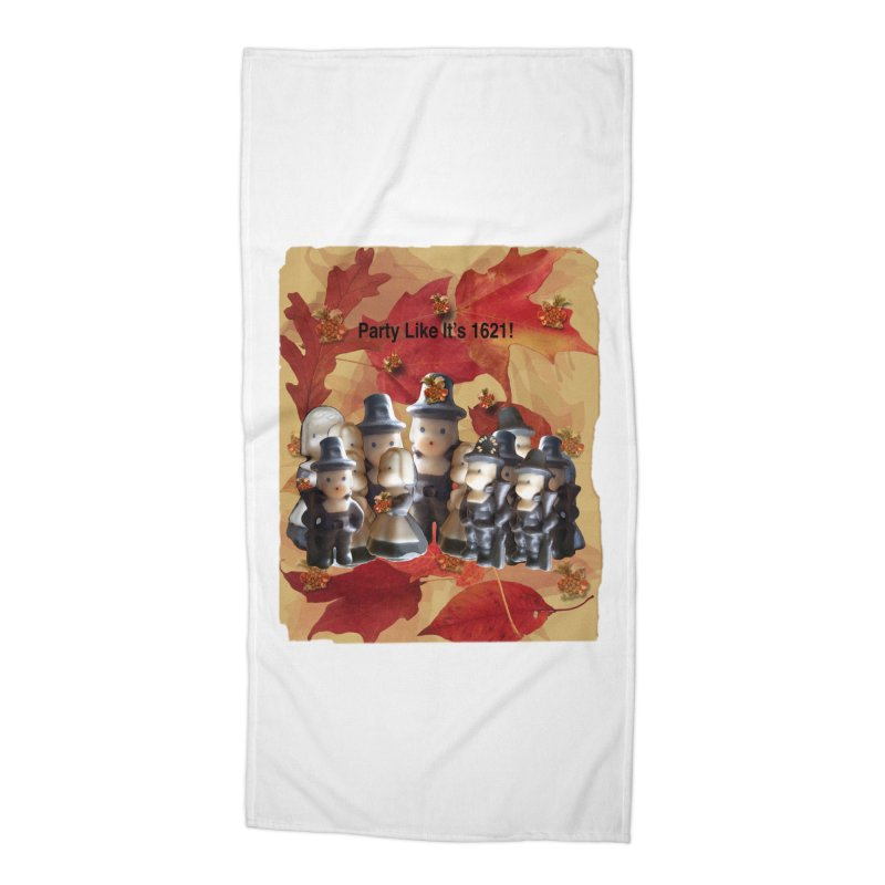 Party Like It's 1621! Accessories Beach Towel by Maryheartworks's Artist Shop