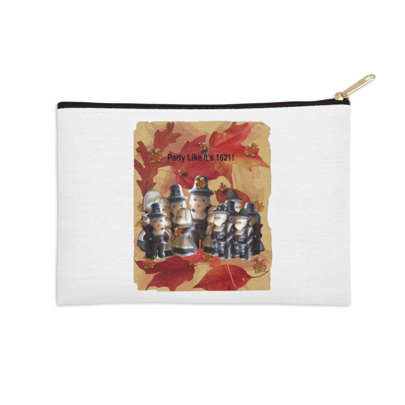 Party Like It's 1621! Accessories Zip Pouch by Maryheartworks's Artist Shop
