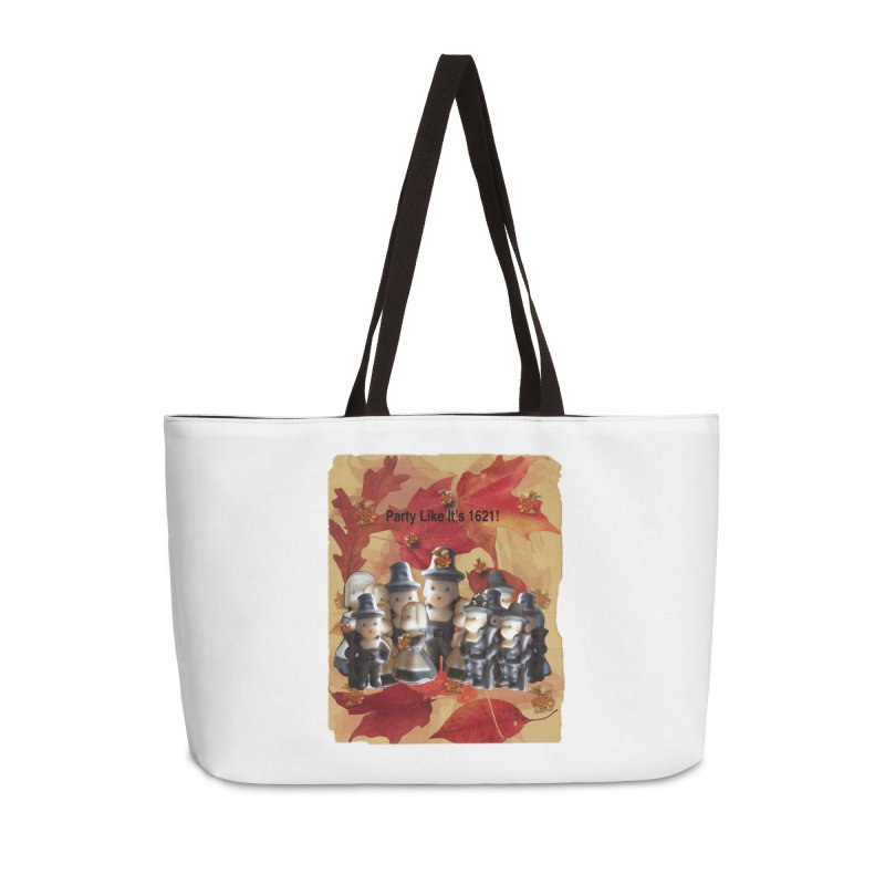 Party Like It's 1621! Accessories Weekender Bag Bag by Maryheartworks's Artist Shop