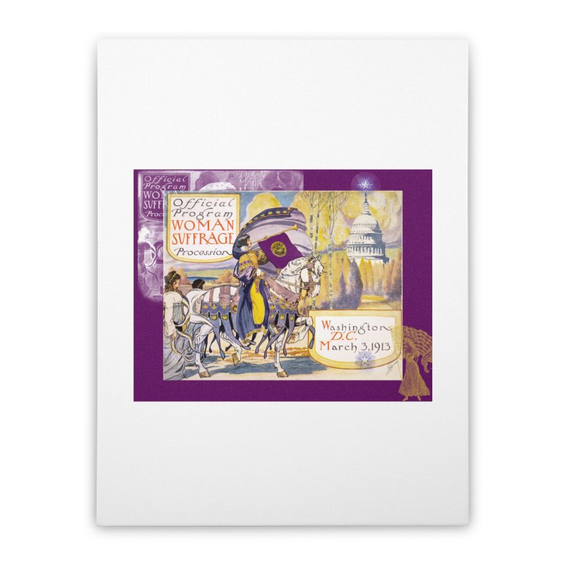 Women's March On Washington 1913, Women's Suffrage Home Stretched Canvas by Maryheartworks's Artist Shop