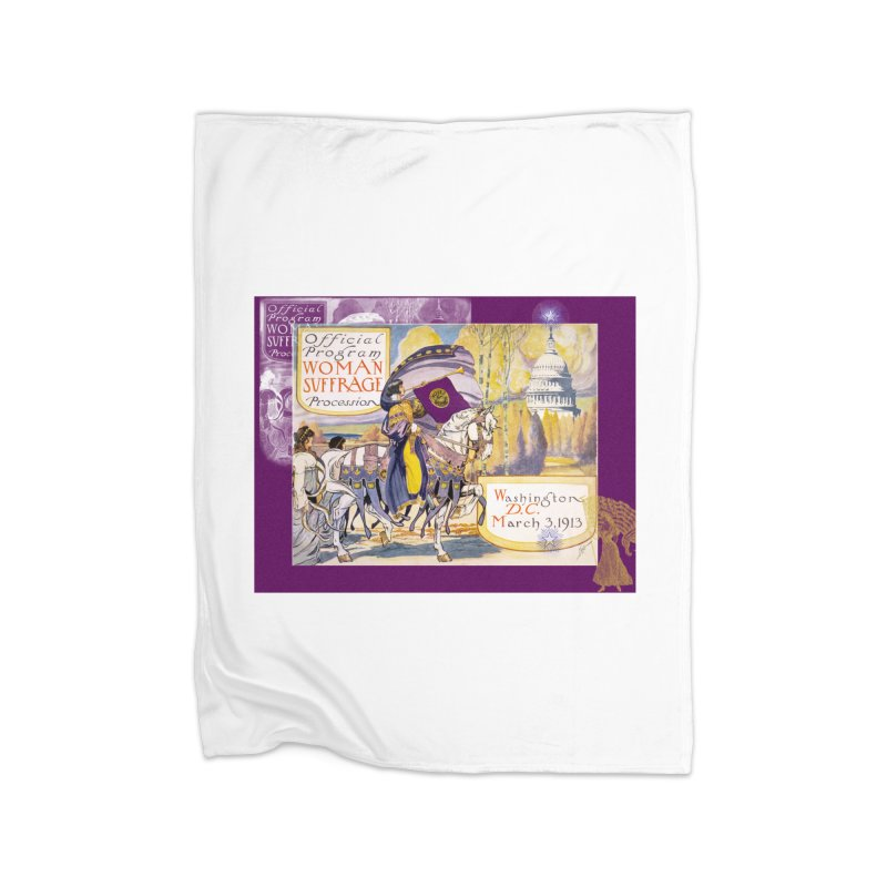Women's March On Washington 1913, Women's Suffrage Home Fleece Blanket Blanket by Maryheartworks's Artist Shop