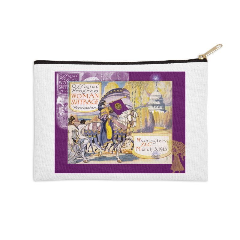 Women's March On Washington 1913, Women's Suffrage Accessories Zip Pouch by Maryheartworks's Artist Shop