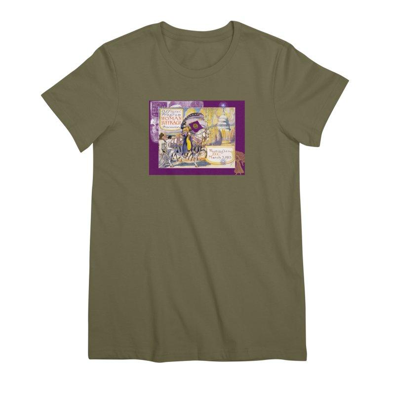 Women's March On Washington 1913, Women's Suffrage Women's Premium T-Shirt by Maryheartworks's Artist Shop