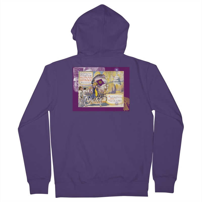 Women's March On Washington 1913, Women's Suffrage Women's French Terry Zip-Up Hoody by Maryheartworks's Artist Shop