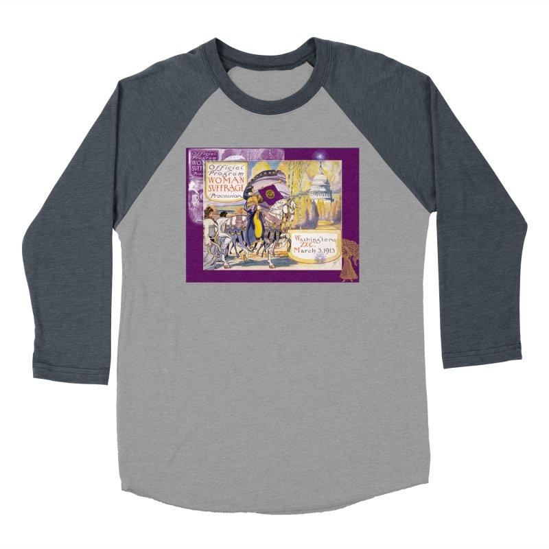 Women's March On Washington 1913, Women's Suffrage Women's Baseball Triblend Longsleeve T-Shirt by Maryheartworks's Artist Shop