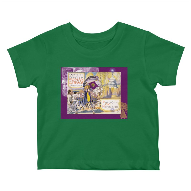 Women's March On Washington 1913, Women's Suffrage Kids Baby T-Shirt by Maryheartworks's Artist Shop
