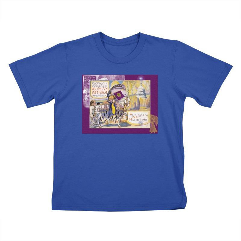Women's March On Washington 1913, Women's Suffrage Kids T-Shirt by Maryheartworks's Artist Shop