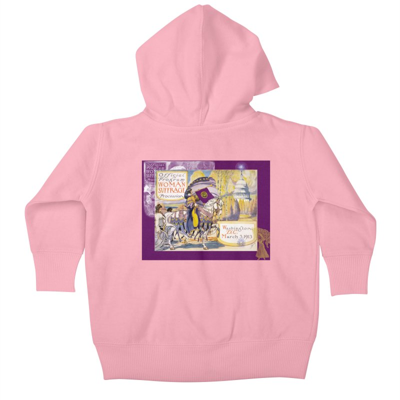 Women's March On Washington 1913, Women's Suffrage Kids Baby Zip-Up Hoody by Maryheartworks's Artist Shop