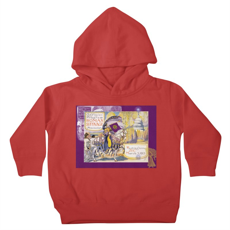 Women's March On Washington 1913, Women's Suffrage Kids Toddler Pullover Hoody by Maryheartworks's Artist Shop