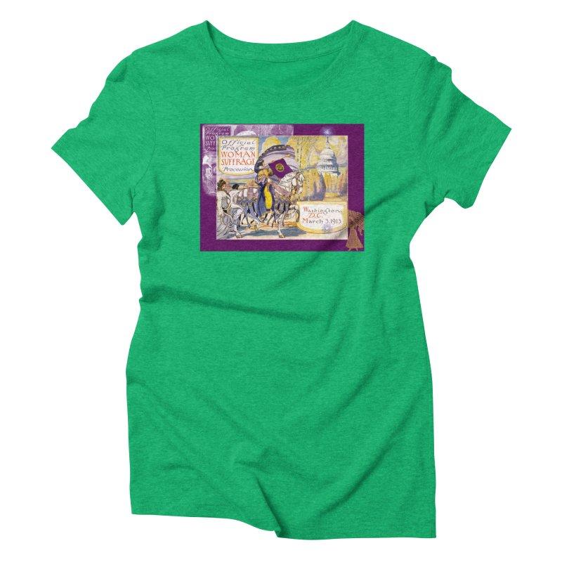 Women's March On Washington 1913, Women's Suffrage Women's Triblend T-Shirt by Maryheartworks's Artist Shop