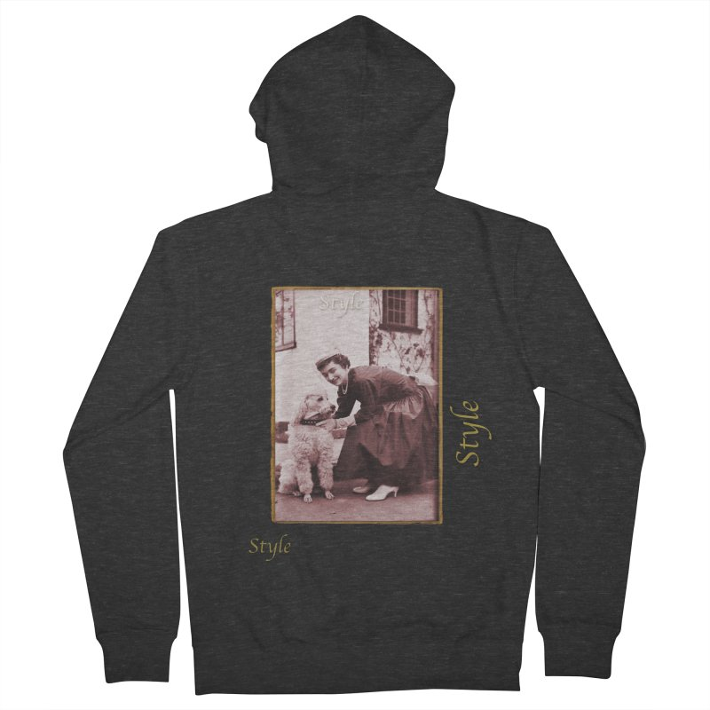 Celebrate Parisian Style! Men's French Terry Zip-Up Hoody by Maryheartworks's Artist Shop