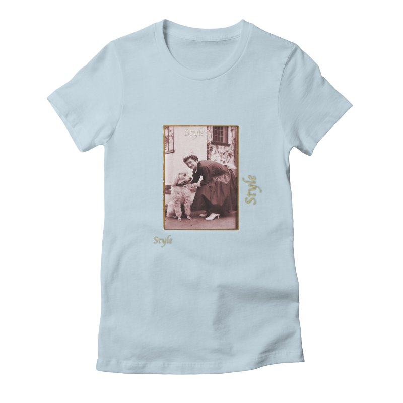 Celebrate Parisian Style! Women's Fitted T-Shirt by Maryheartworks's Artist Shop