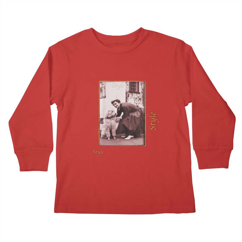 Celebrate Parisian Style! Kids Longsleeve T-Shirt by Maryheartworks's Artist Shop
