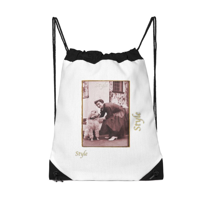 Celebrate Parisian Style! Accessories Drawstring Bag Bag by Maryheartworks's Artist Shop