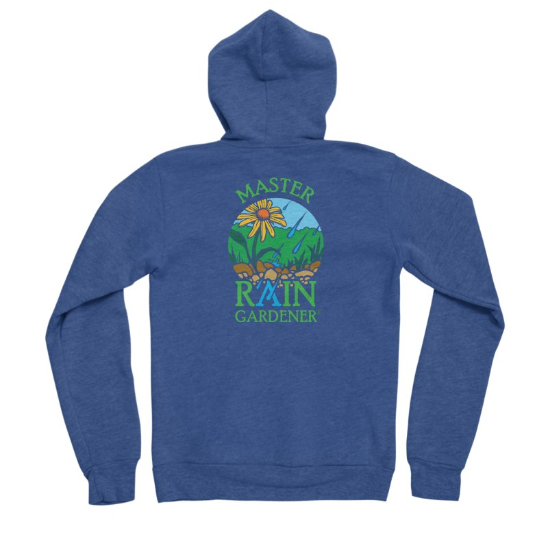 Master Rain Gardener in Men's Sponge Fleece Zip-Up Hoody Heather Royal by MasterRainGardener's Artist Shop