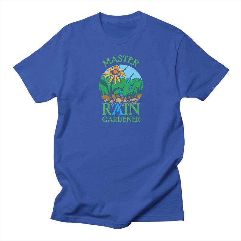 Master Rain Gardener in Men's Regular T-Shirt Royal Blue by MasterRainGardener's Artist Shop