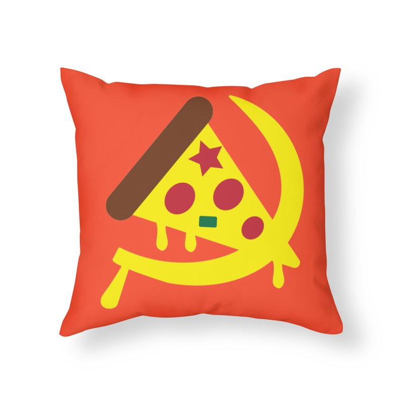 Pizza Communism Home Throw Pillow by MDM