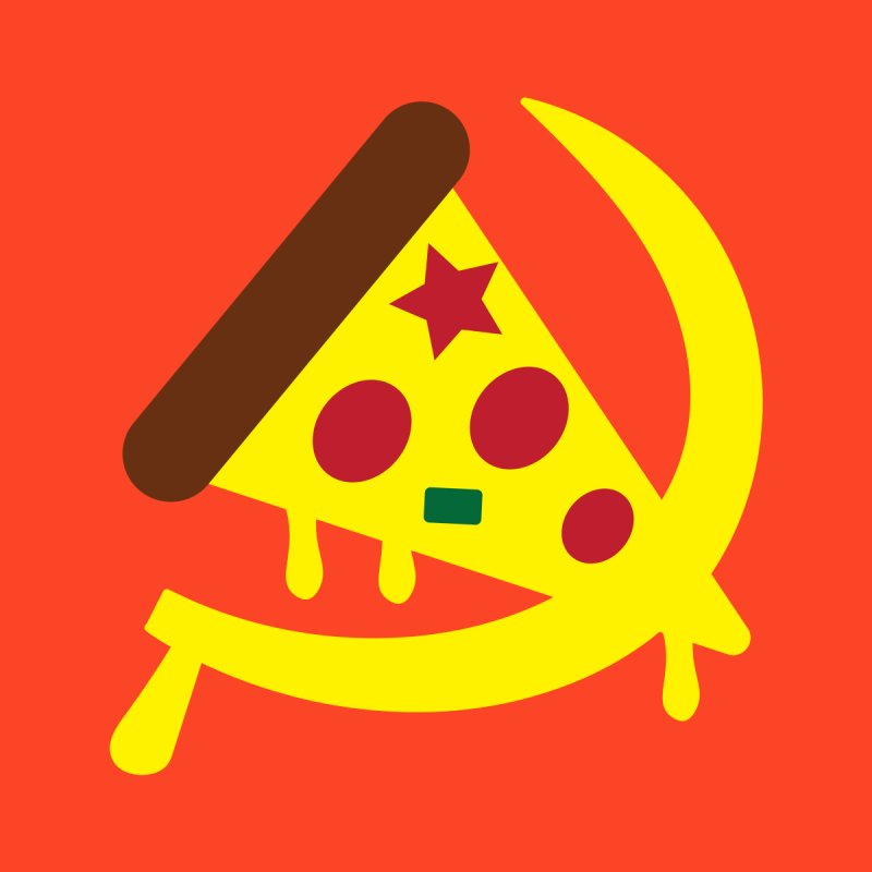 Pizza Communism Women's T-Shirt by MDM