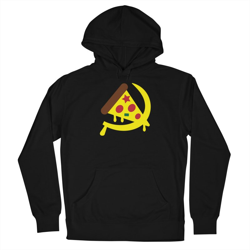 Pizza Communism Men's French Terry Pullover Hoody by MDM