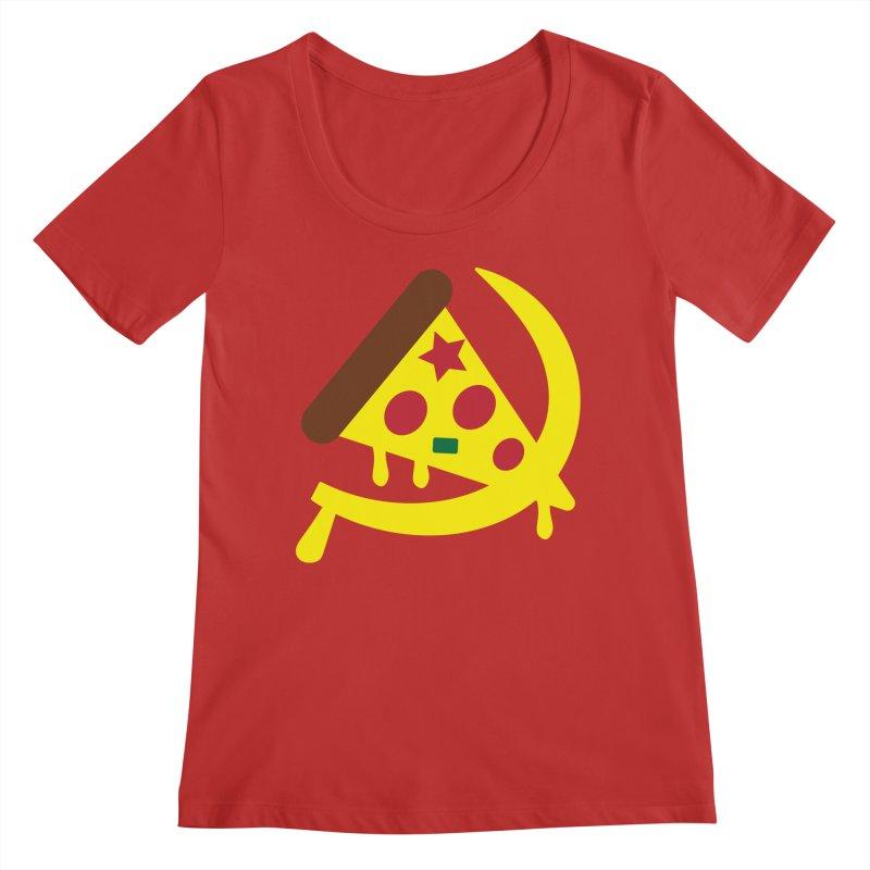 Pizza Communism Women's Regular Scoop Neck by MDM