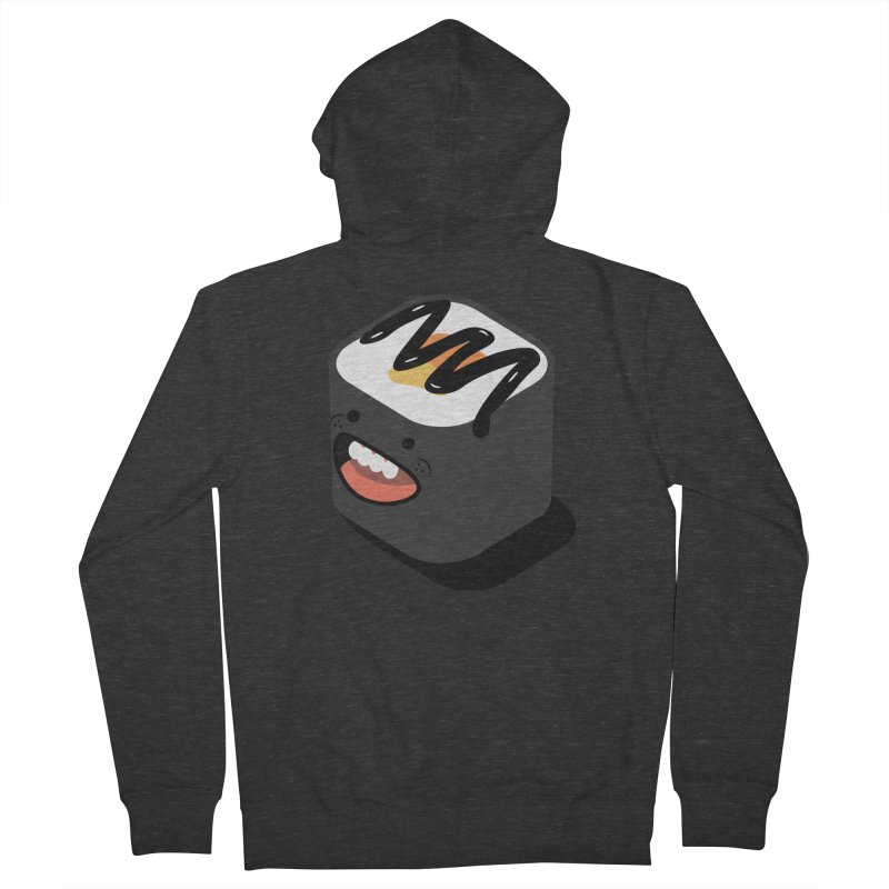 Sushi  Men's French Terry Zip-Up Hoody by MDM