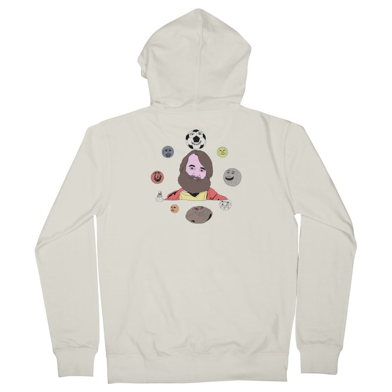 Phil and His Balls Men's French Terry Zip-Up Hoody by MDM