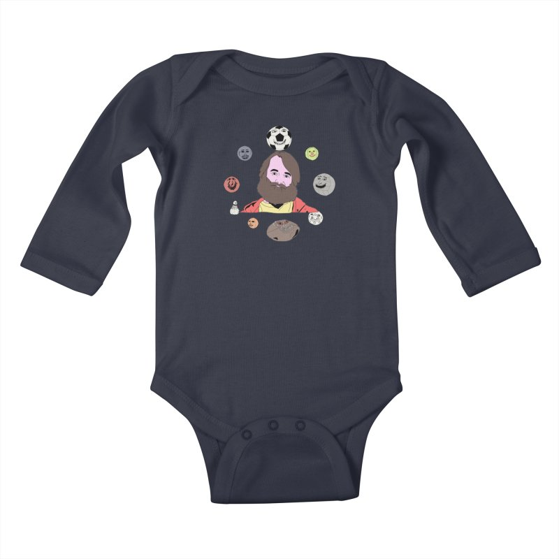 Phil and His Balls Kids Baby Longsleeve Bodysuit by MDM