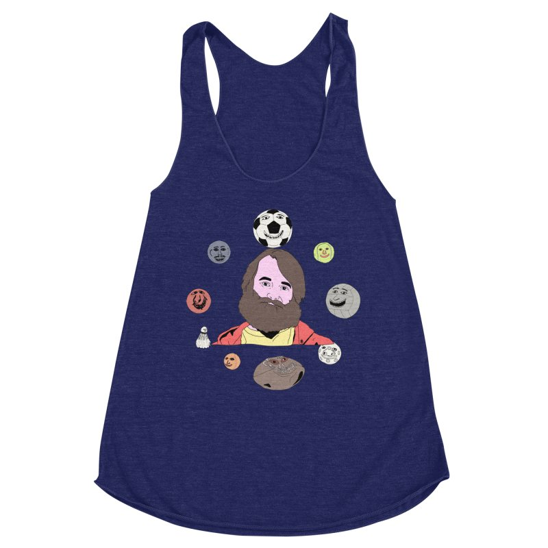 Phil and His Balls Women's Racerback Triblend Tank by MDM
