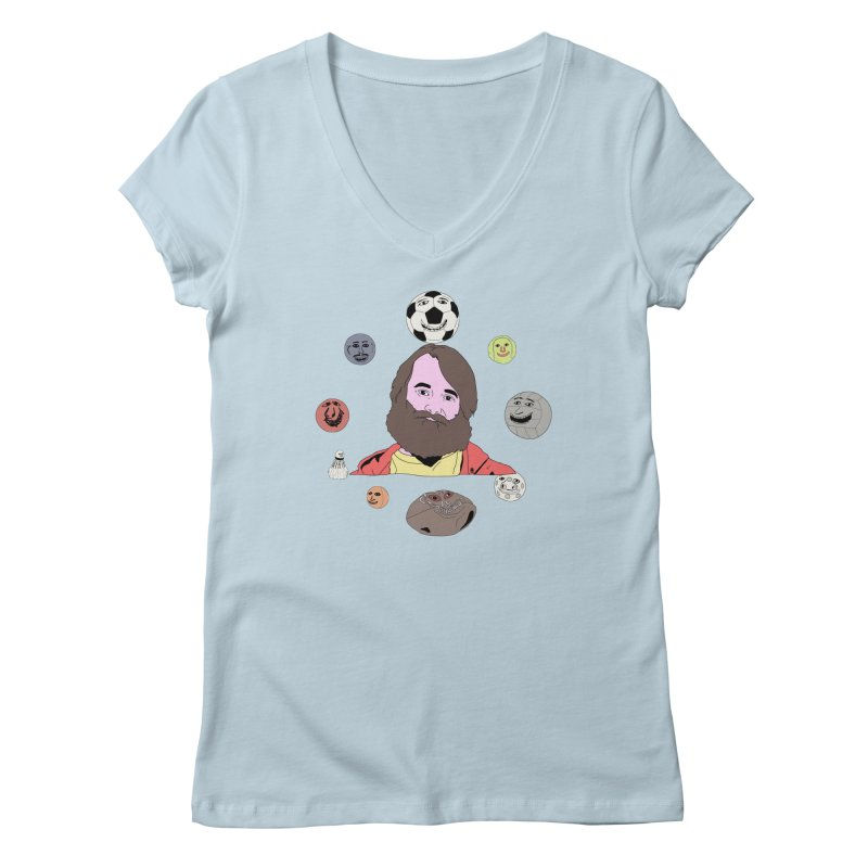 Phil and His Balls Women's Regular V-Neck by MDM