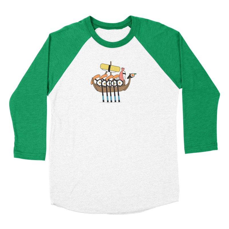 Sushi Vikings Men's Baseball Triblend Longsleeve T-Shirt by MDM