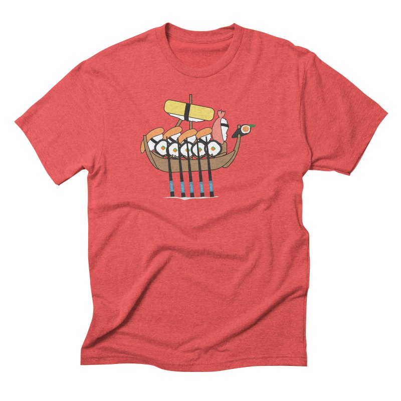 Sushi Vikings Men's Triblend T-Shirt by MDM