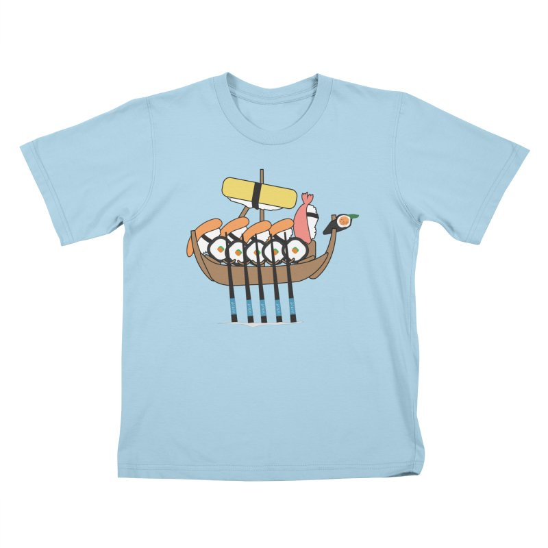 Sushi Vikings Kids T-Shirt by MDM
