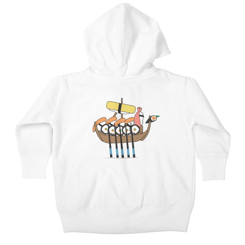 Sushi Vikings Kids Baby Zip-Up Hoody by MDM