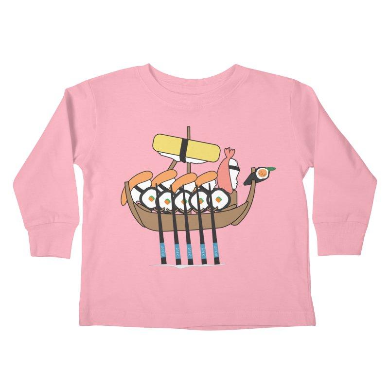 Sushi Vikings Kids Toddler Longsleeve T-Shirt by MDM