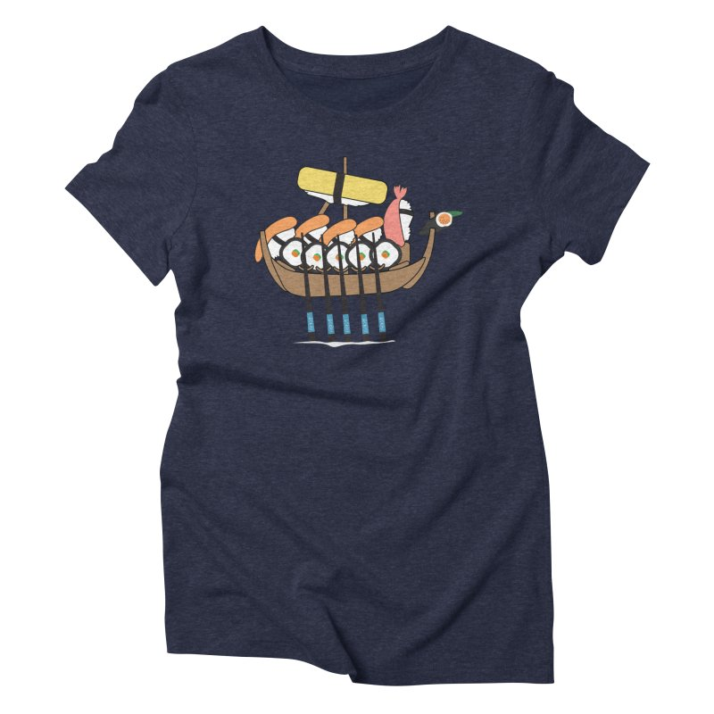 Sushi Vikings Women's Triblend T-Shirt by MDM