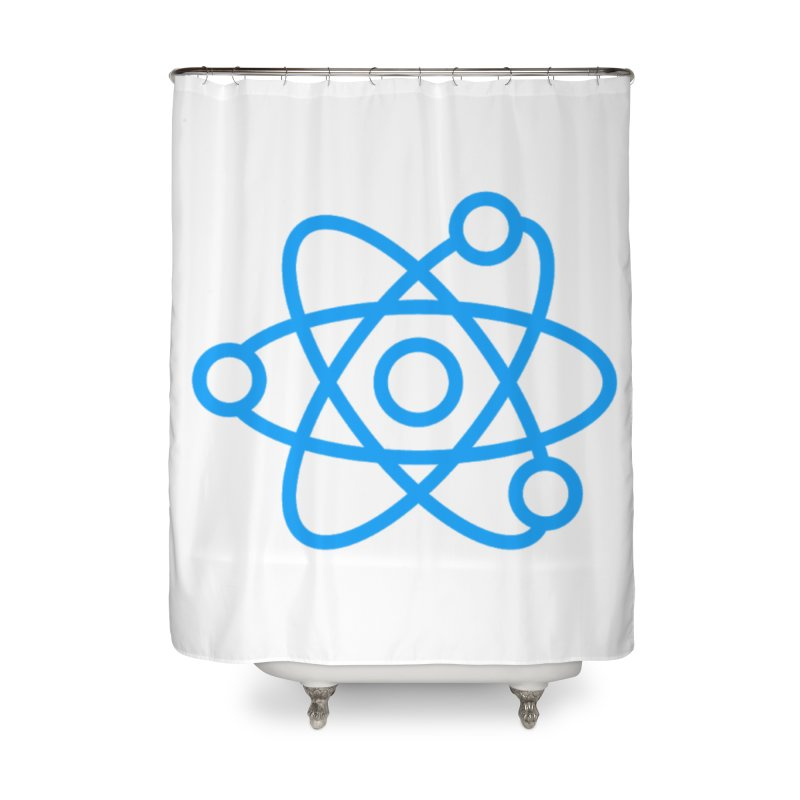 Icon Blue Home Shower Curtain by Matter of Beer Shop