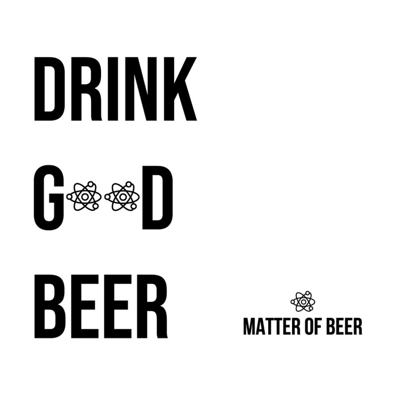 Drink Good Beer Black Home Blanket by Matter of Beer Shop
