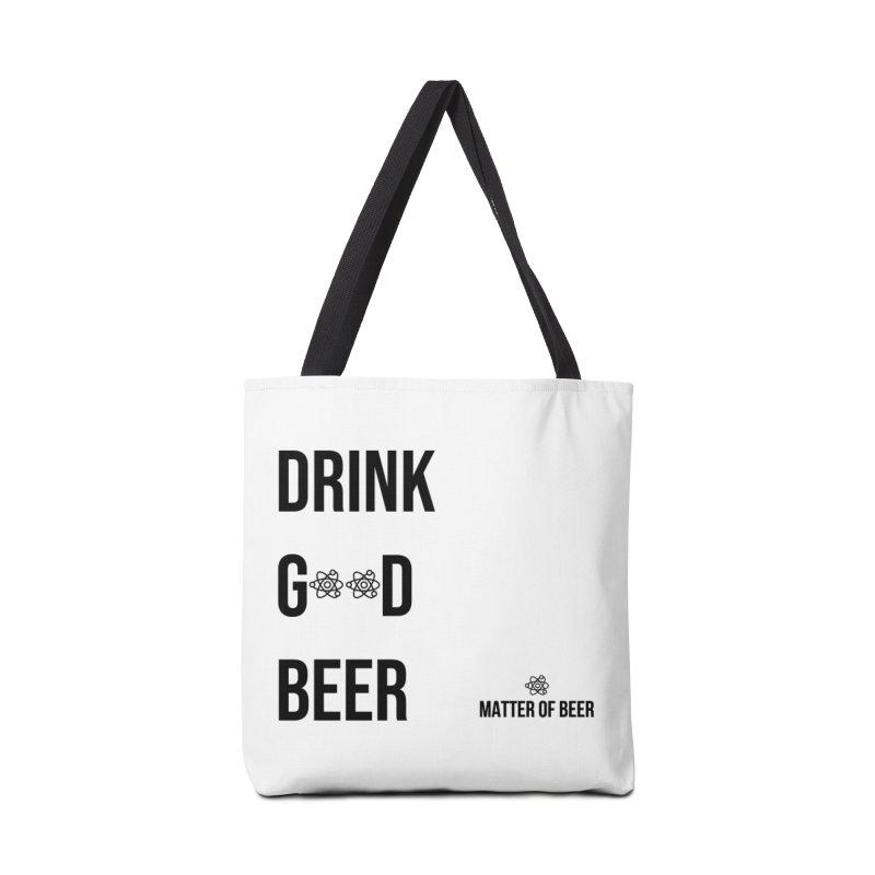 Drink Good Beer Black Accessories Bag by Matter of Beer Shop