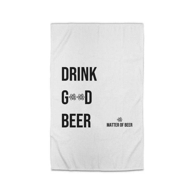 Drink Good Beer Black Home Rug by Matter of Beer Shop