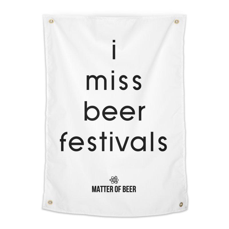 i miss beer festivals Black Home Tapestry by Matter of Beer Shop