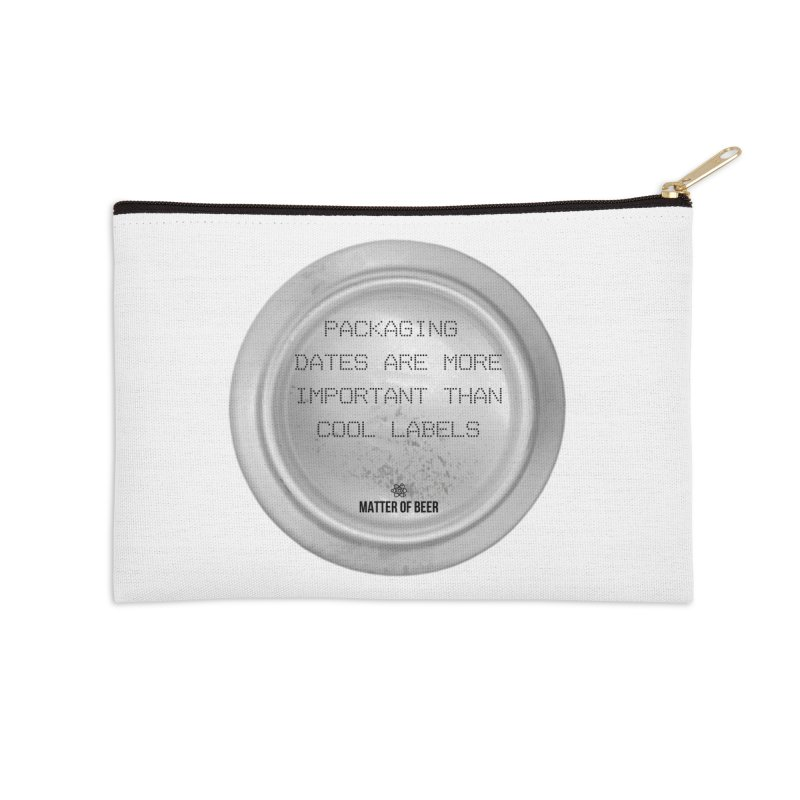 Packaging Dates Accessories Zip Pouch by Matter of Beer Shop