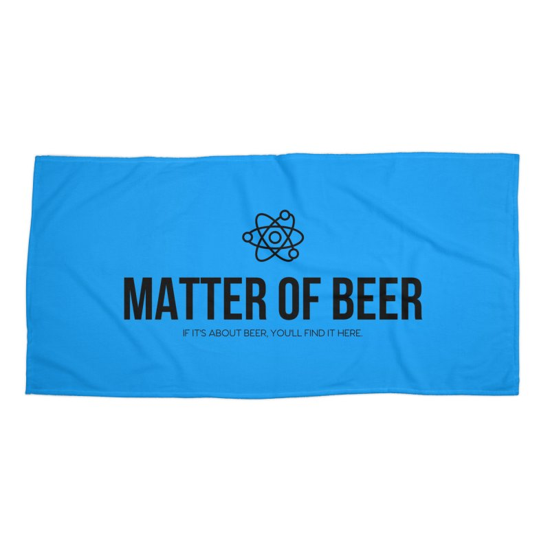 Black Full Logo Accessories Beach Towel by Matter of Beer Shop