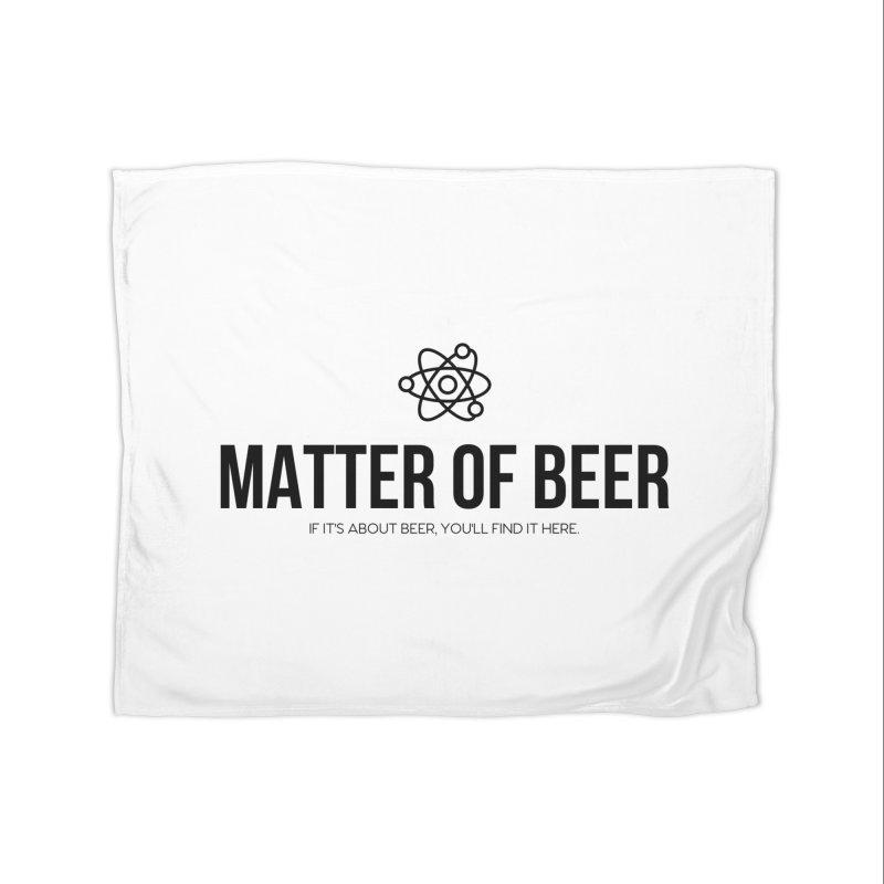 Black Full Logo Home Blanket by Matter of Beer Shop
