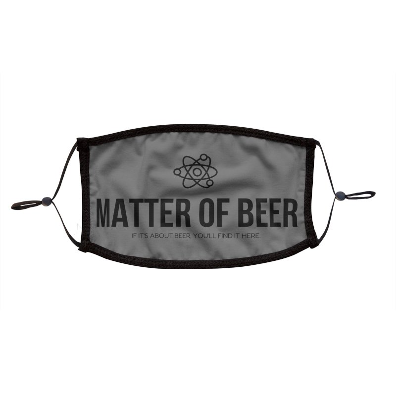 Black Full Logo Accessories Face Mask by Matter of Beer Shop